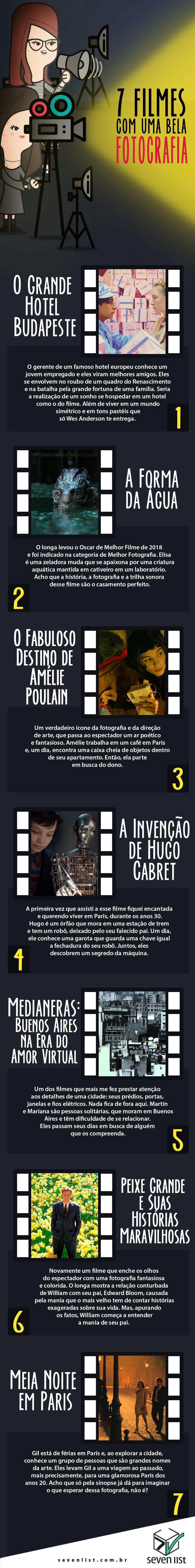SEVEN LIST - 7 FILMES COM UMA BELA FOTOGRAFIA