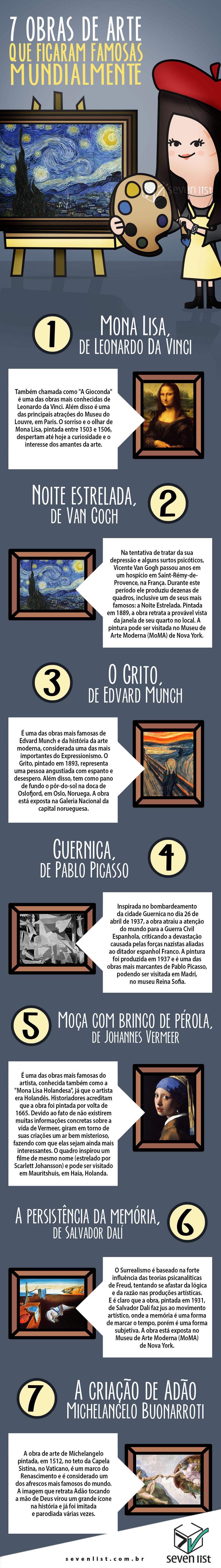 SEVEN LIST - 7 OBRAS DE ARTE QUE FICARAM FAMOSAS MUNDIALMENTE