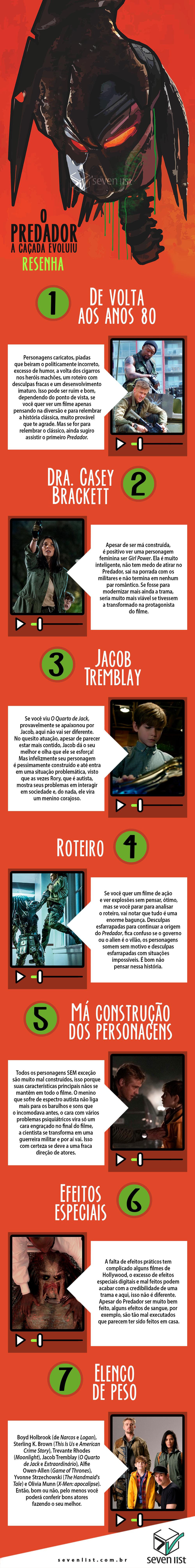 O PREDADOR - RESENHA - SEVEN LIST