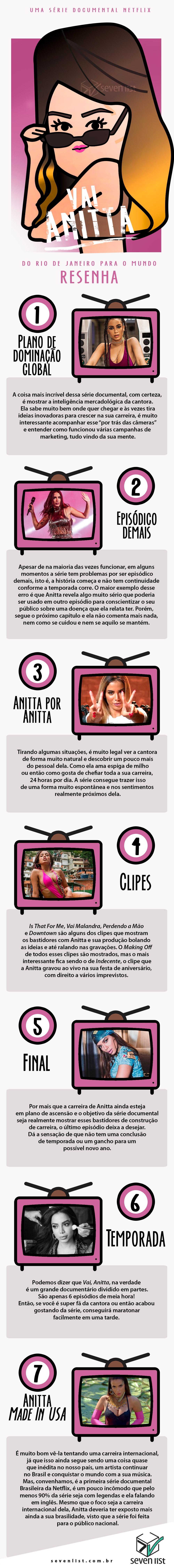 VAI ANITTA - NETFLIX - RESENHA - SEVEN LIST