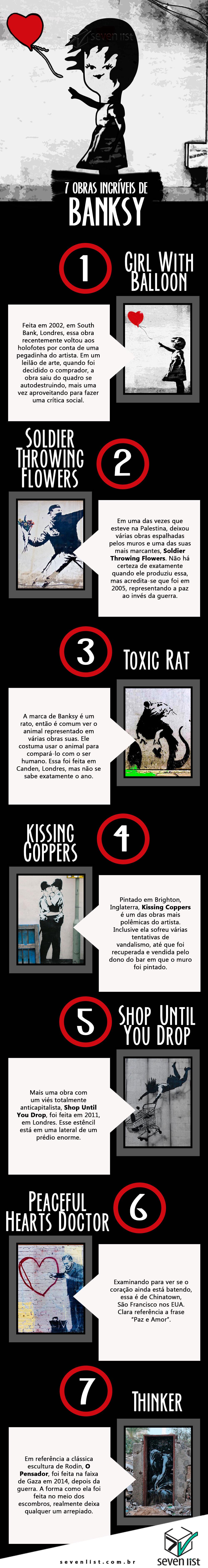 veja obras de Banksy