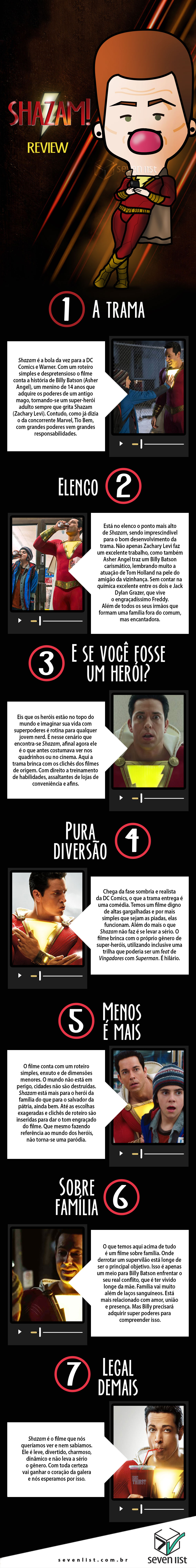 SHAZAM - CINEMA - REVIEW - SEVEN LIST