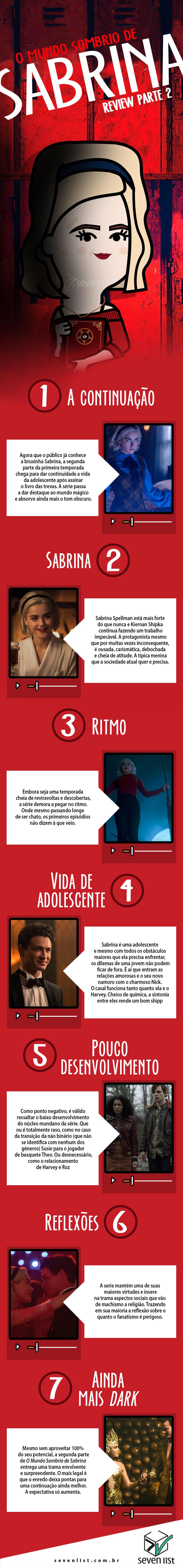 O MUNDO SOMBRIO DE SABRINA - REVIEW PARTE 2 - NETFLIX - SEVEN LIST