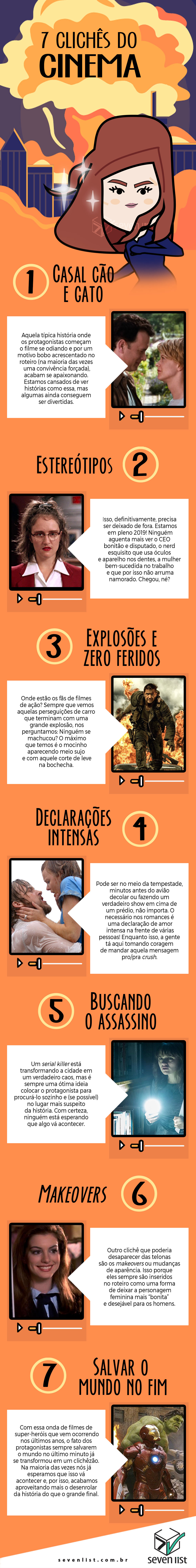 7 CLICHÊS DO CINEMA - SEVEN LIST