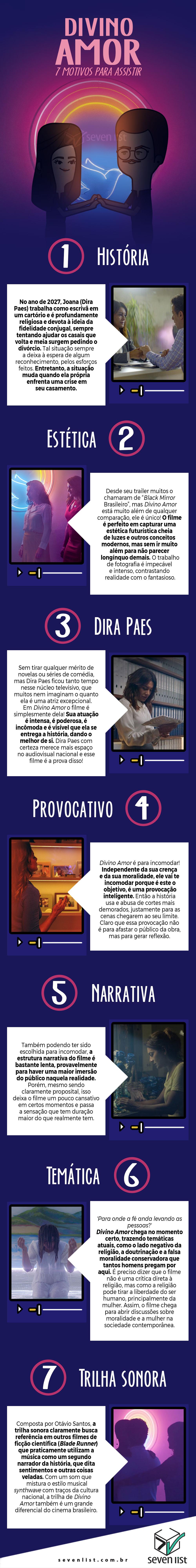DIVINO AMOR - 7 MOTIVOS PARA ASSISTIR - SEVEN LIST