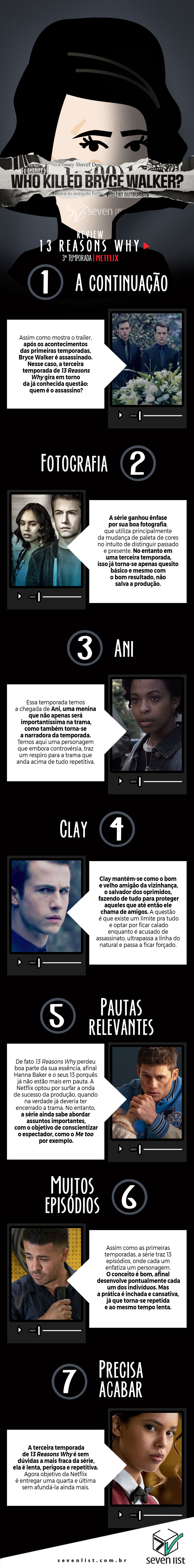 13 REASONS WHY - 3 TEMPORADA - CRÍTICA - NETFLIX - SEVEN LIST