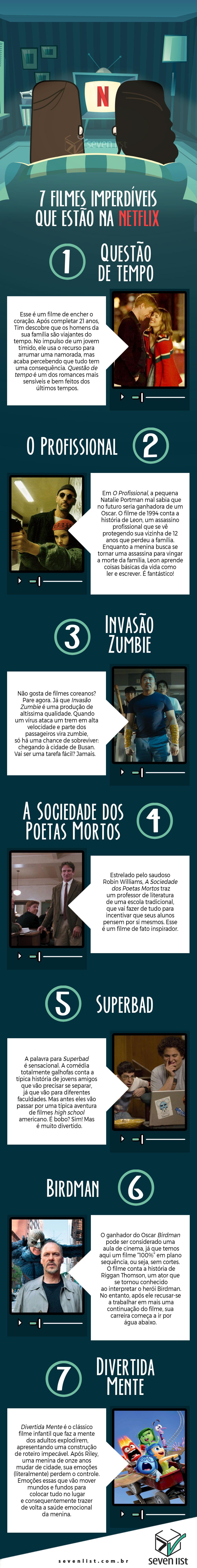 7 FILMES IMPERDÍVEIS QUE ESTÃO NA NETFLIX - NETFLIX - SEVEN LIST