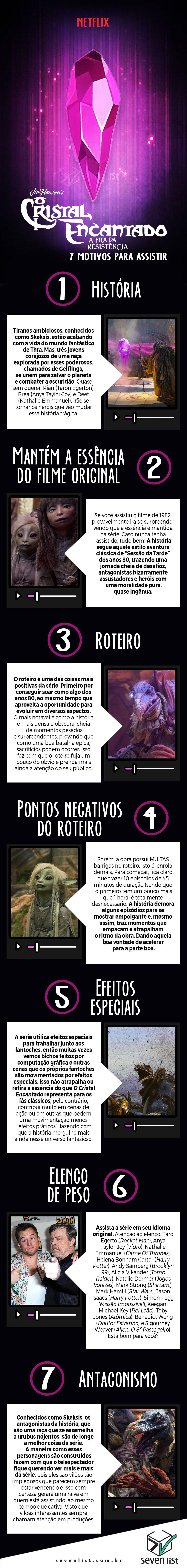O CRISTAL ENCANTADO - 7 MOTIVOS PARA ASSISTIR - NETFLIX - SEVEN LIST