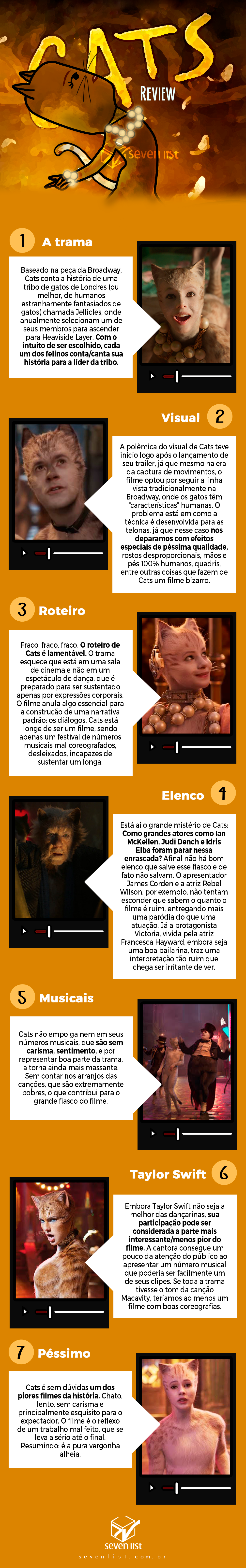 Seven List - Crítica do filme musical Cats