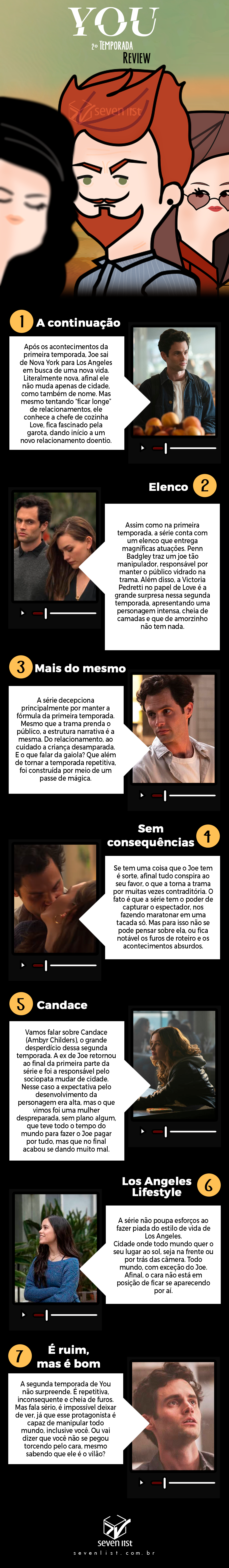 seven list- crítica da segunda temporada de You