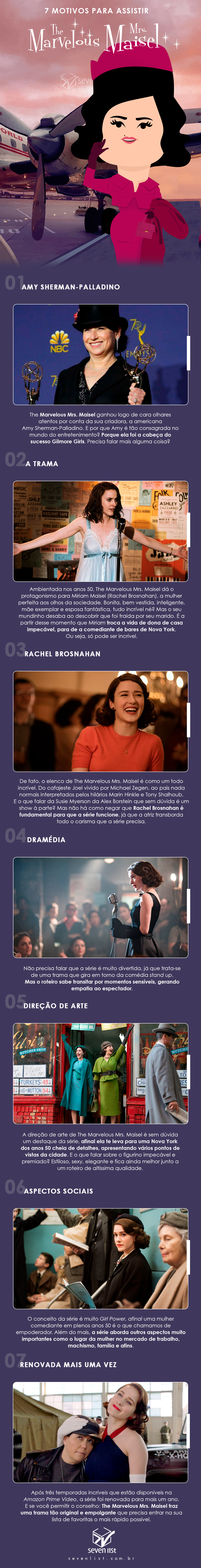 The Marvelous Mrs. Maisel - Série da Amazon Prime Vídeo - Seven List